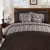 MasterPanel - King Size 8+2 Piece Luxury Plaid Bedding Comforter Set Plaid Prints