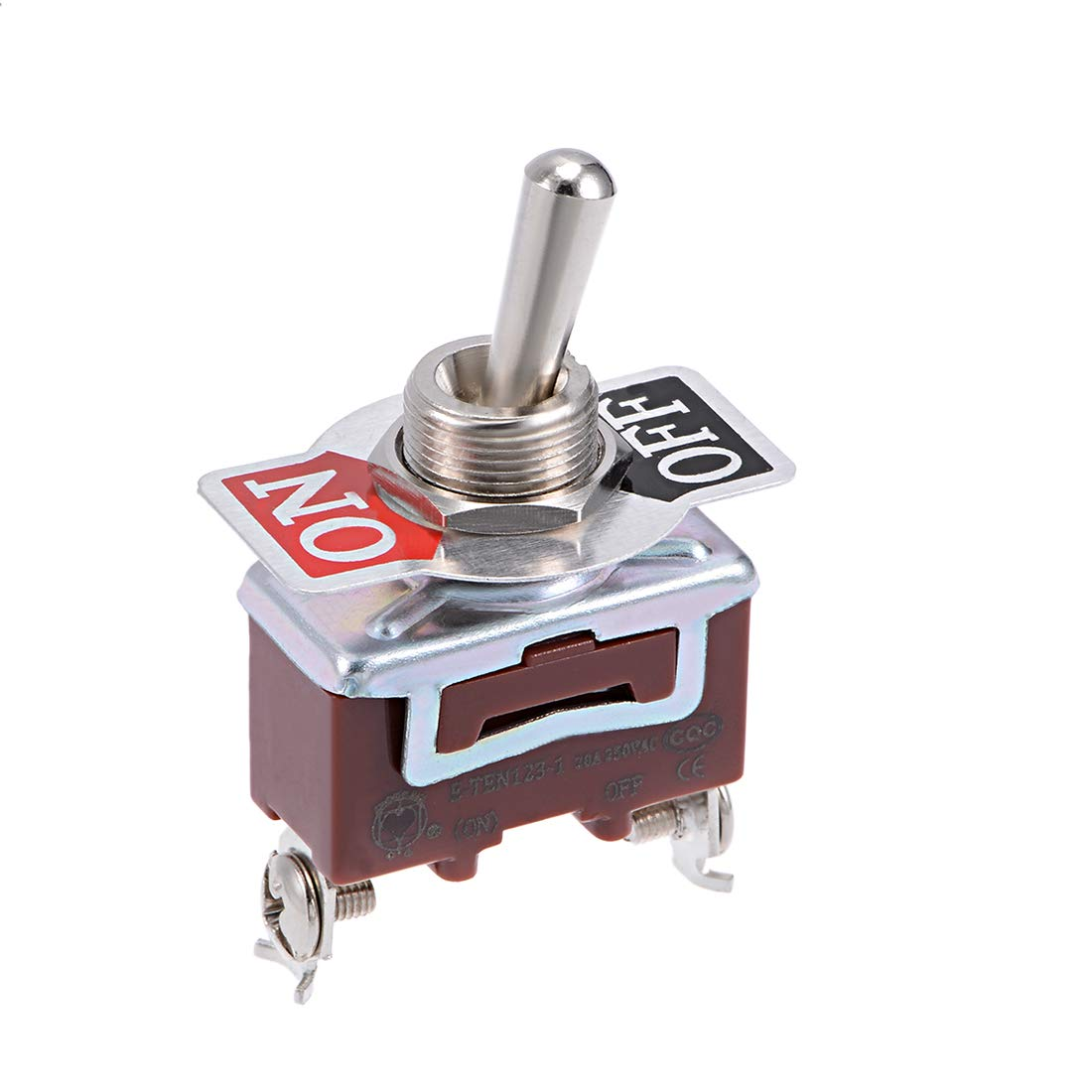 uxcell DPDT Momentary Rocker Toggle Switch Heavy-Duty 20A 250V 6P ON//ON Metal Bat 1pcs