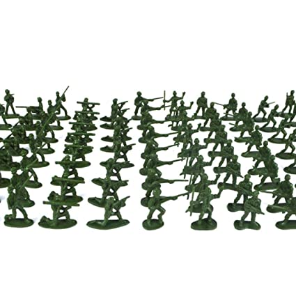 Shop For Cheap 100 Pcs Military Playset Plastic Toy Soldiers Army Men 3.8cm Figures Made Of High Quality Plastic And Durable Wide Selection; Learning & Education