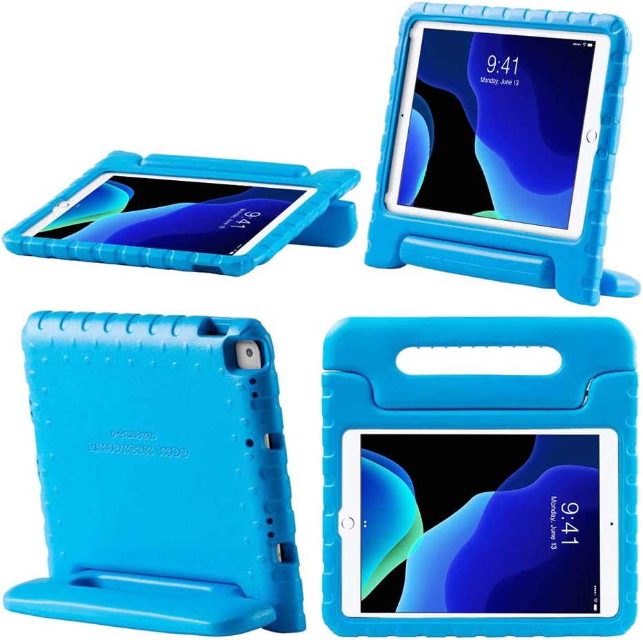 i-Blason Kido Case for New iPad 8th/7th Generation, iPad 10.2 2020/2019 Case for Kids, Lightweight Super Protective Shockproof Case with Convertible Stand (Blue)