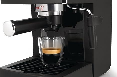 Saeco HD8323/01 - Cafetera Saeco Poemia espresso manual negra ,950W,con Café molido y Easy Serving Espresso (E.S.E.),Bomba de 15 bares, filtro a presión ...