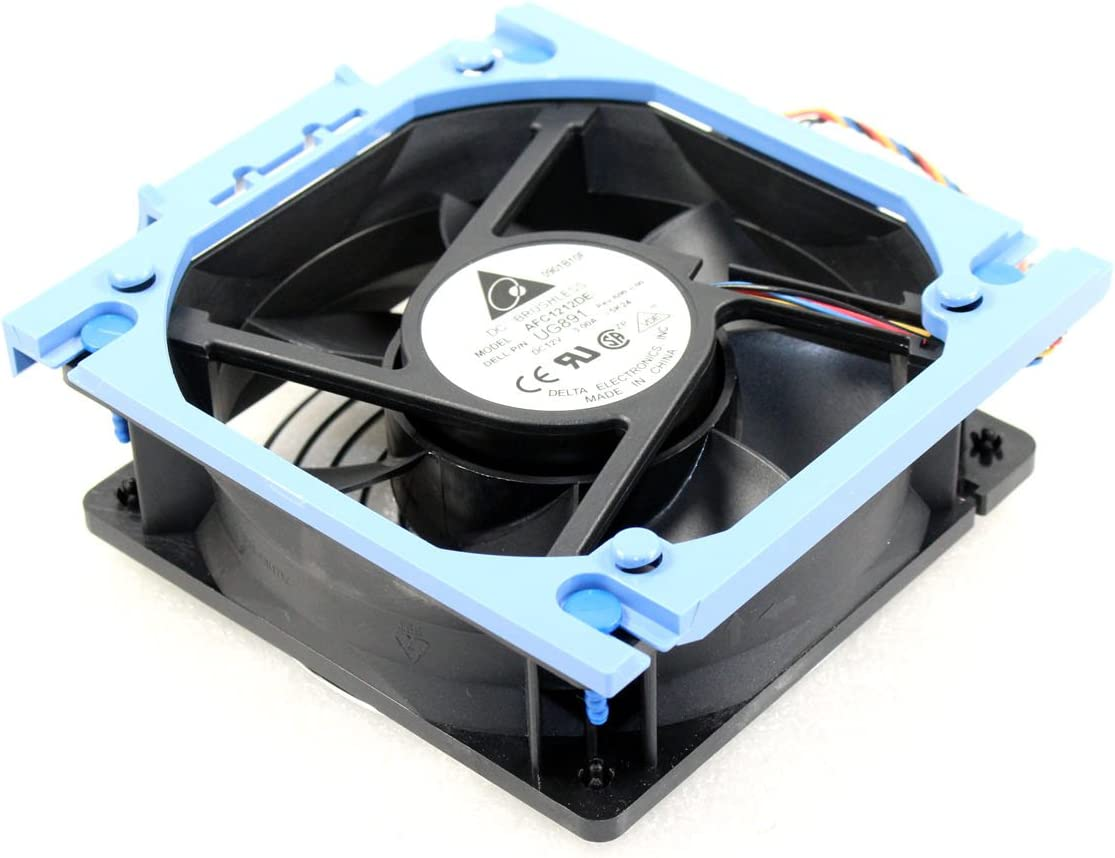 Dell New OEM PowerEdge 800 830 840 850 T300 Rear Fan Assembly Case AFC1212DE Cooling X8955 D6168 UG891 WH282 4715KL-04W-B86