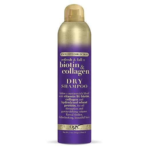 Organix Biotin & Collagen Dry Shampoo, 5 Ounce Best Dry Shampoo