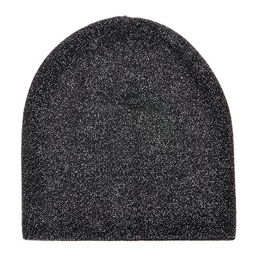 nky Soft Stretch Cable Knit Beanie Hat Skull Cap Sparkle Shinny Double Layers (Sparkle Cap)