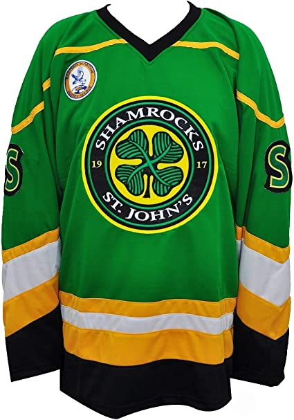 Ross The BOSS Rhea ST John's Shamrocks Hockey Jersey with EMHL Patch Stitch