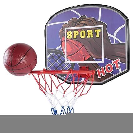 Drfeify Tablero de Madera Baloncesto, Mini Sistema de ...