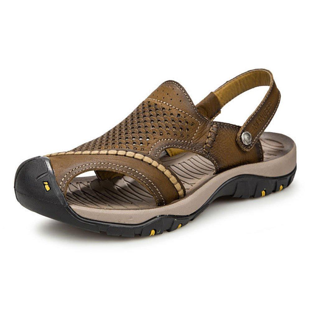 Baotou Sandals Beach Shoes Sandalias De Moda Darkbrown