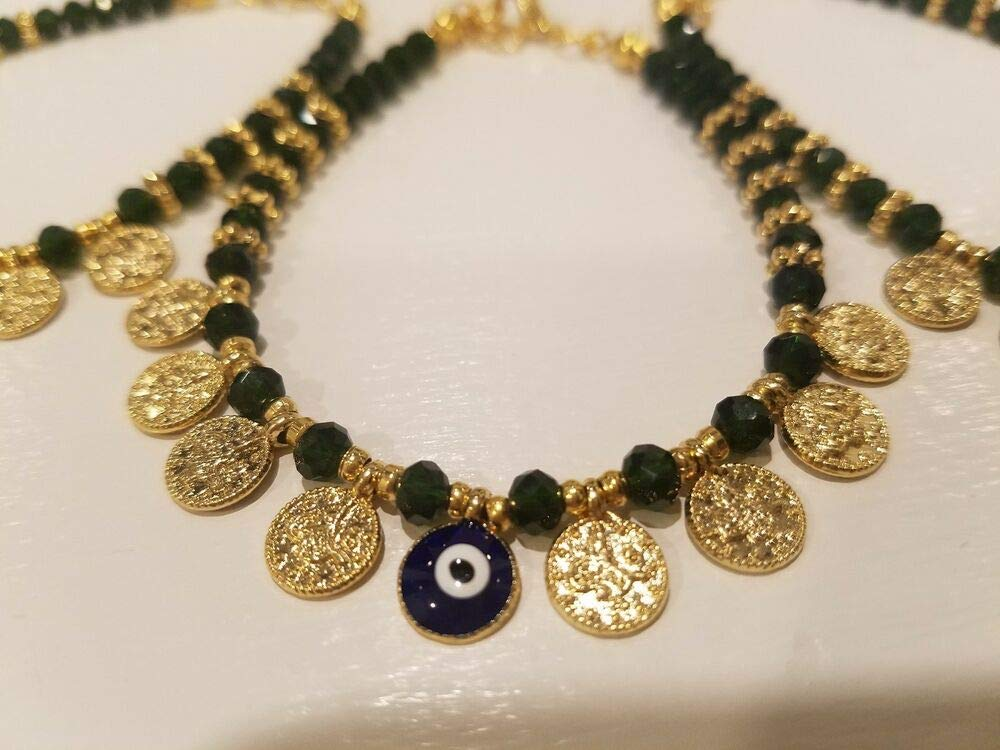 handmade Crystal Evileye Bracelets Q15554
