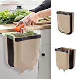 Hanging Kitchen Trash Can for Cabinet Trash Can Mini Garbage Can Collapsible Waste Bins 9 Liter for Cabinet Door Car…