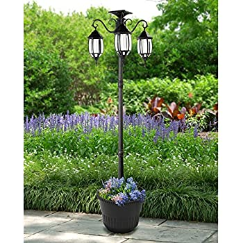 Sun Ray Madison Solar Lamp Post and Planter Amazoncom