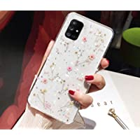 Etui kompatybilne z Samsung Galaxy A51, etui na telefon komórkowy Galaxy A51, etui na telefon komórkowy, suszone kwiaty…