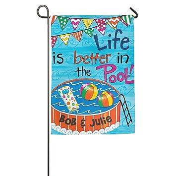 Charmant Life Is Better In The Pool Garden House Flag Beauty Good Life Burlap Garden  Flag Christmas