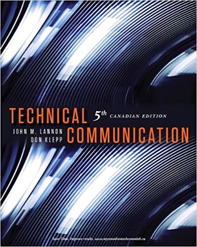 Technical Communication 5th Edition Fifth Canadian Edition