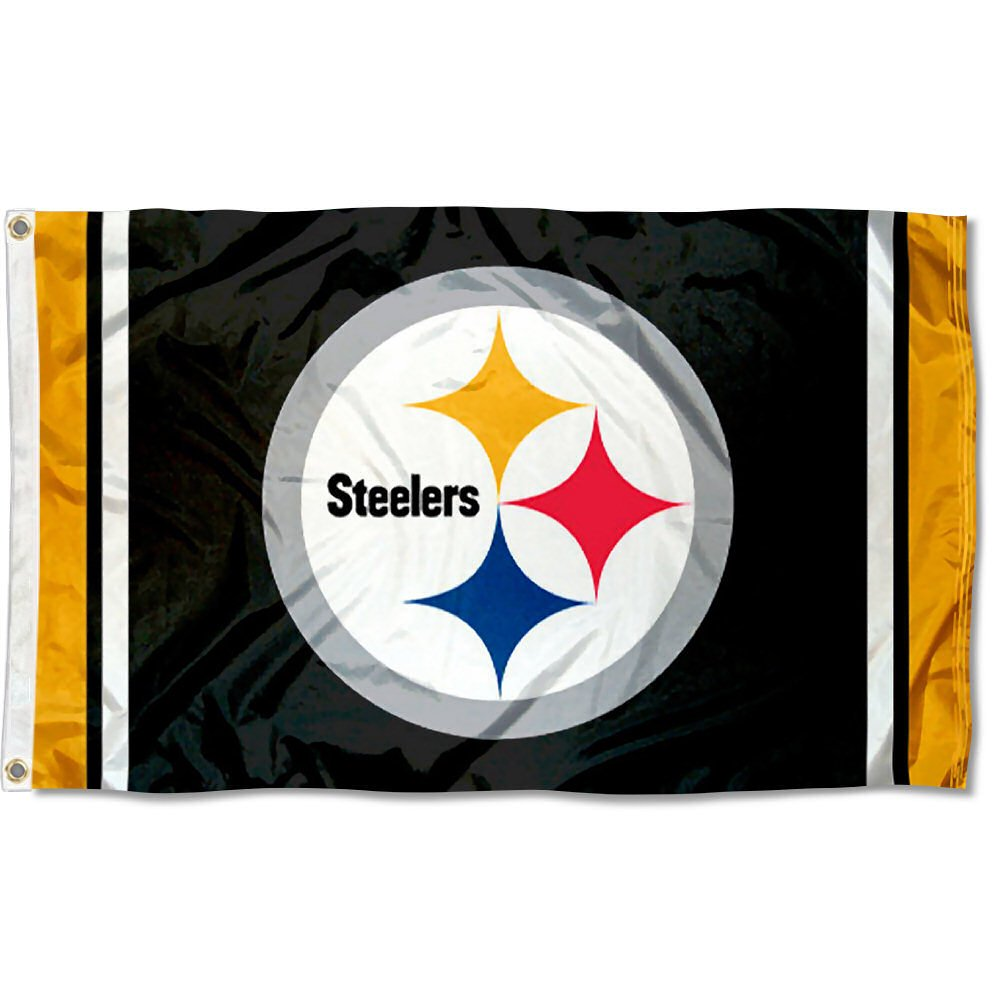 WinCraft Pittsburgh Steelers Large NFL 3x5 Flag