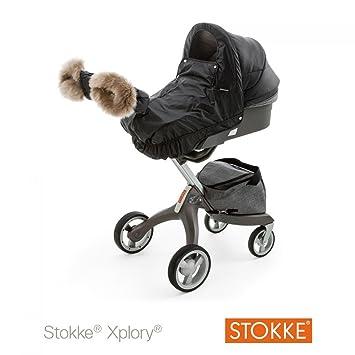 Stokke - Kit invierno negro para cochecito Xplory Stokke: Amazon.es: Bebé