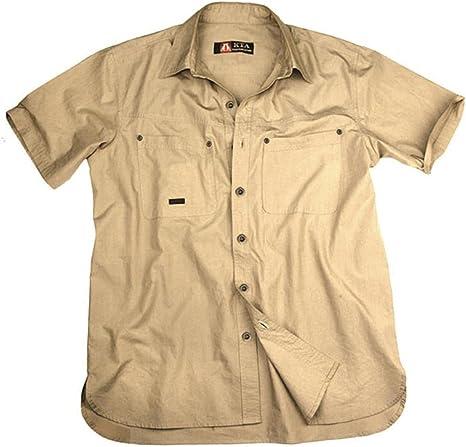 Ligero Outdoor Señor Camisa En Beige y Verde, camiseta de manga corta, hombre, color beige, tamaño small: Amazon.es: Deportes y aire libre