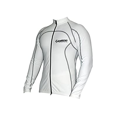 Zimco Pro Bike Jacket Cycling Viz Jacket Winter Soft Shell Wind Jersey White: Clothing