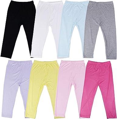 Olgaa 8 Colors Girls Capris Cotton Leggings Summer Cotton High Waist Slip  Capris Crop Smooth Leggings for Girls Women: Amazon.co.uk: Clothing