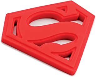 Bumkins DC Comics Superman Silicone Teether, Textured, Soft, Flexible, Bacteria Resistant