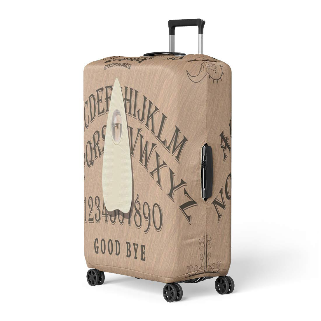 Pinbeam Luggage Cover Brown Angel Ouija Board Cardboard Contact Demon Devil Travel Suitcase Cover Protector Baggage Case Fits 18-22 inches by Pinbeam