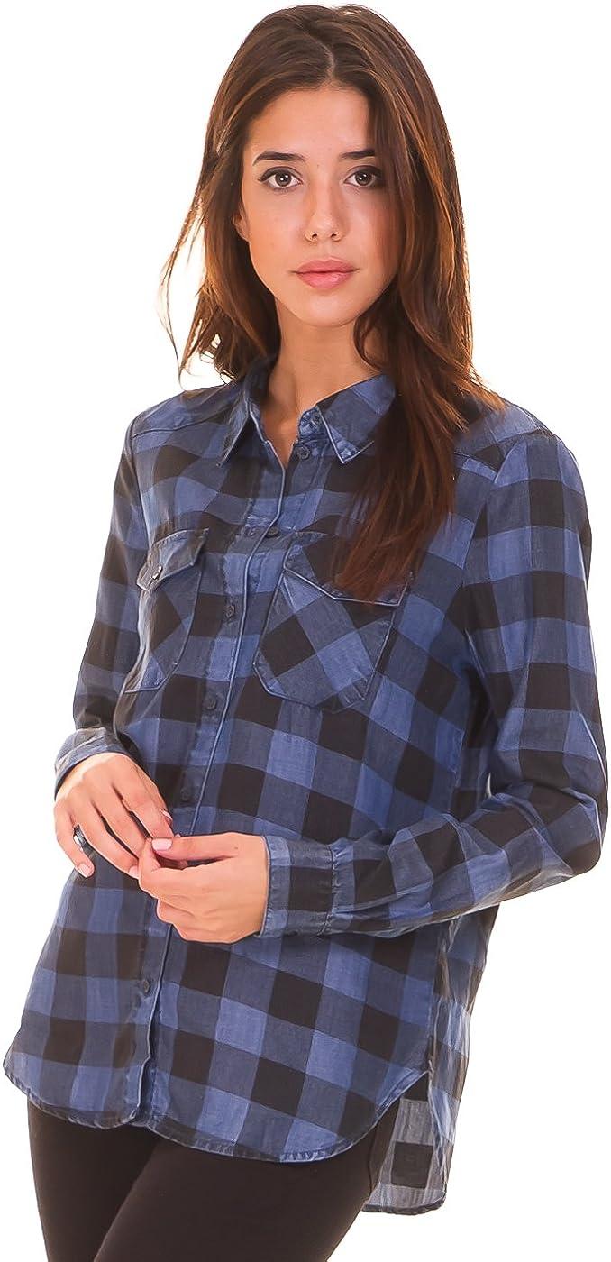 Noisy May Camisa Cuadros Azul (M - Azul): Amazon.es: Ropa y ...
