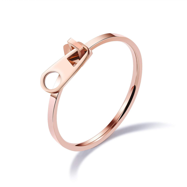 Chereda moda donna rose Gold cerniera classico design party Rings 17 colore: 8 cod. CH2018W0850 QIANDI JEWELRY LTD
