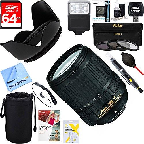 Nikon 18-140mm f/3.5-5.6G ED AF-S VR DX Nikkor Lens  + 64GB