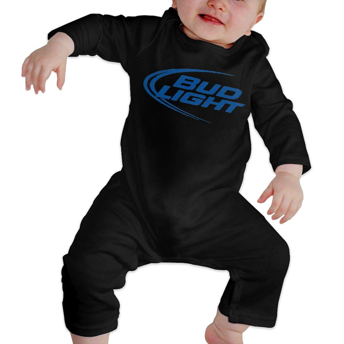 Bud Light Printed Baby Girl Unisex Cotton Long Sleeve Jumpsuit Romper with Headband Infant Clothes