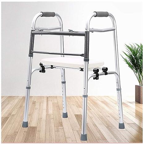 LTLHXM Andador para Ancianos Aluminio Plegable Caminador con ...