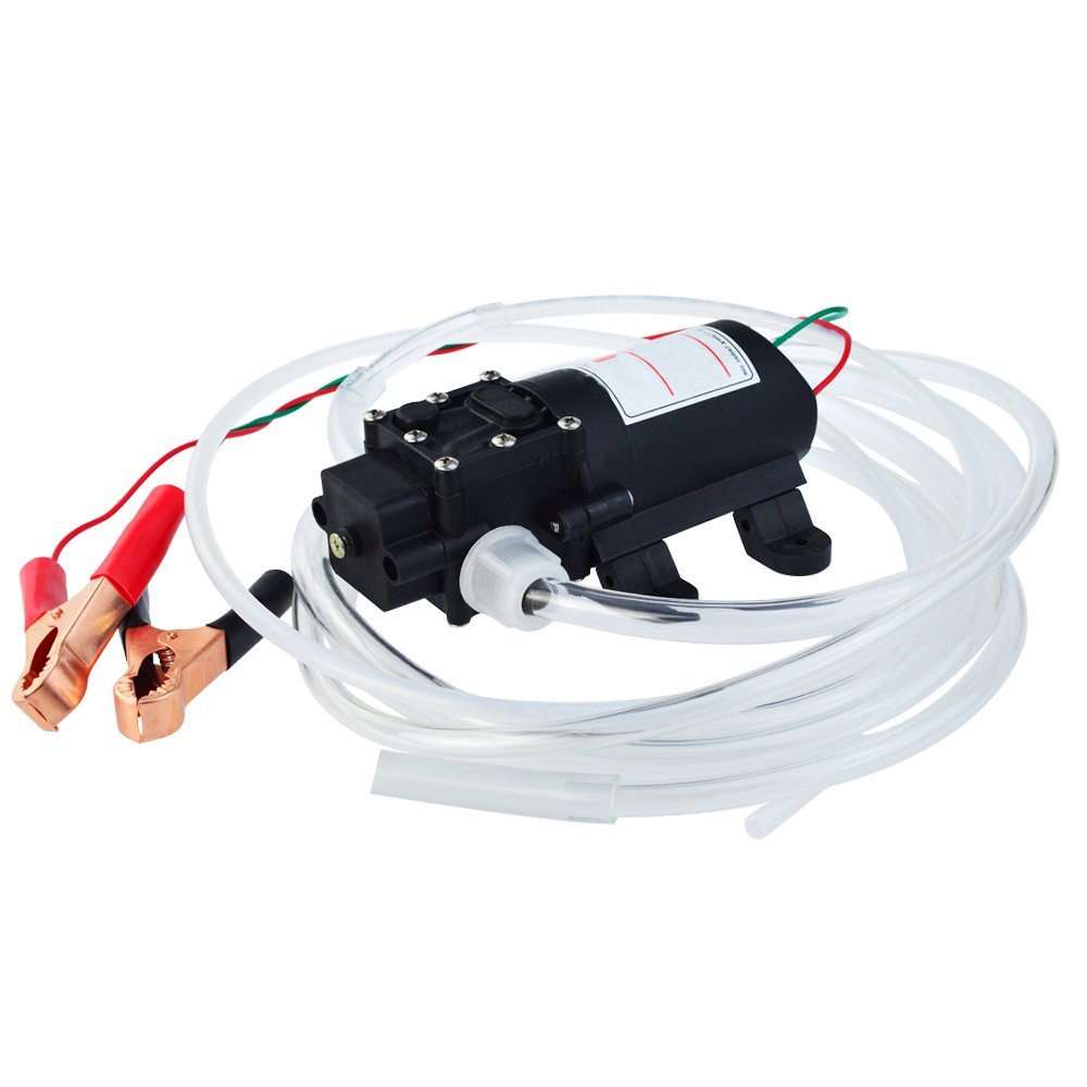 mifengdaer 60W 12V CH-1206 Vacuum Oil Pump Oil Extractor Pump Fluid Transfer Pump Small Size Oil Liquid Suction Pump Extractor with Hose for Car Motorbike Vehicle Boat