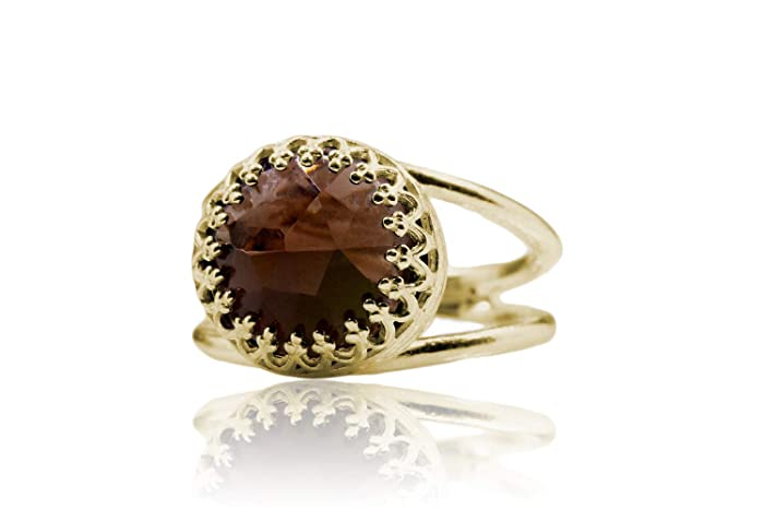 Amazon Com Smoky Quartz Ring Gold Gemstone Ring Gift Ring Birthday