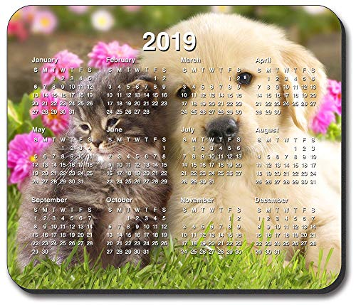 Art Plates brand - Best Friends Mouse Pad - with 2019 Calendar