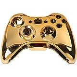 SODIAL(R) Conjunto de Carcasa de cromo para mando + Botones rojos y oros para Xbox 360 Color: Rojo + oro + negro