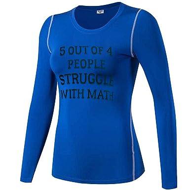 O2TEE Women s Math Teacher Humor Long Sleeve Cool Base Layer Sports  Wear 8f02aa7168