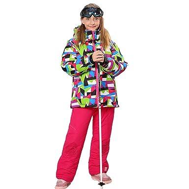 683401780015 Wonny Girls Ski Jacket Pants Kids Waterproof Winter Skisuit 6 (DHL ...