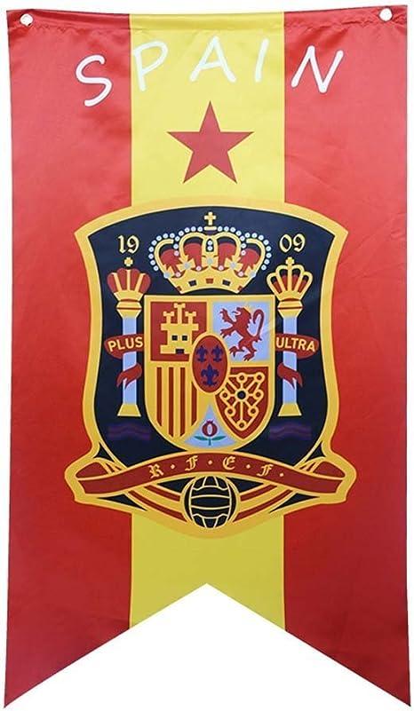 Bandera del Equipo Nacional de fútbol Flag Viva España Selección Absoluta–Apoyo, Ideal para Los FanÁTicos, Bar, Club Deportivo, Restaurante, Sala De Billar, Supermercado: Amazon.es: Jardín