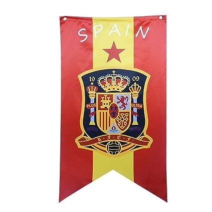 Bandera del Equipo Nacional de fútbol Flag Viva España Selección Absoluta–Apoyo, Ideal para