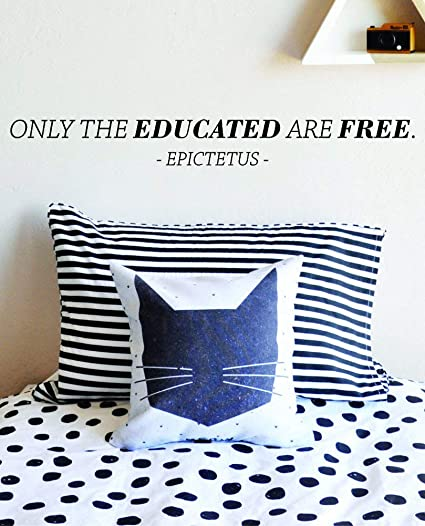 Amazoncom Wall Decals Quotes Only The Educated Are Free Epictetus