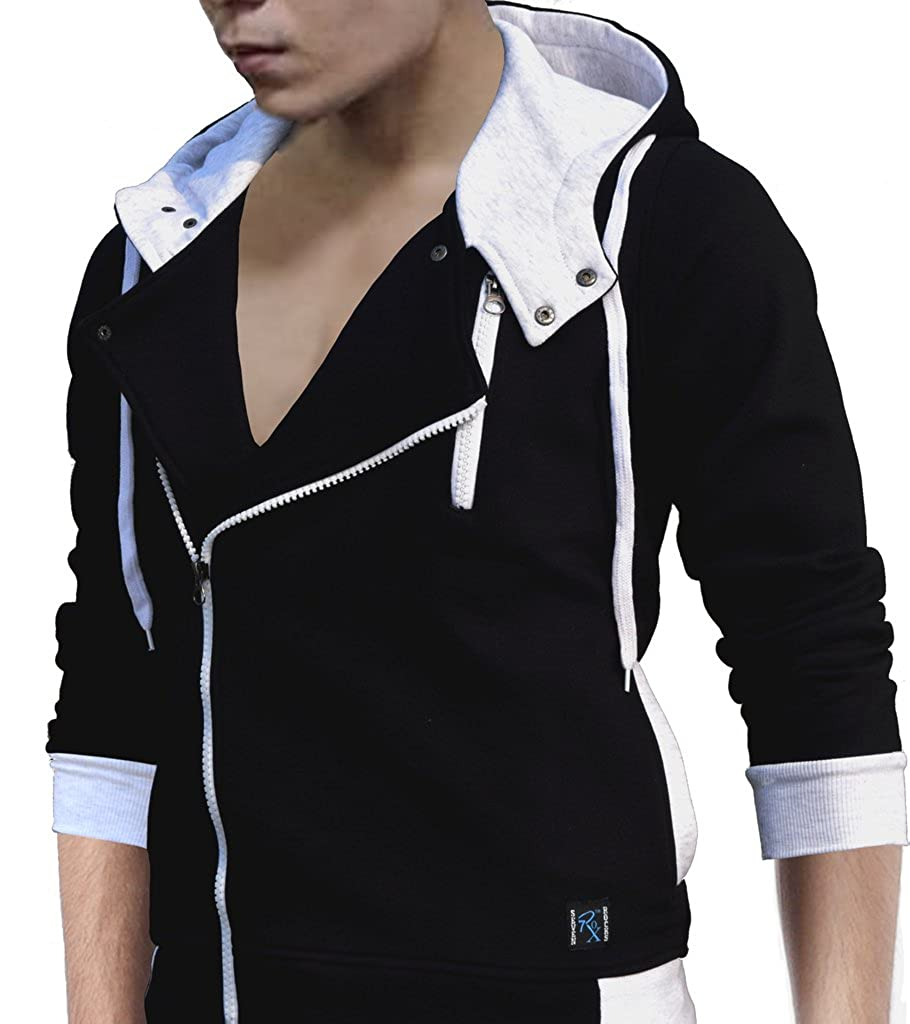 7dd813ac892 Seven Rocks Mens's Hoodie (S-TZ-BL_Black, Light Grey_Small): Amazon.in:  Clothing & Accessories