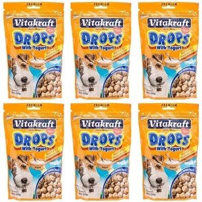 VitaKraft Drops with Yogurt Dog Treat Snacks - 6 Pack