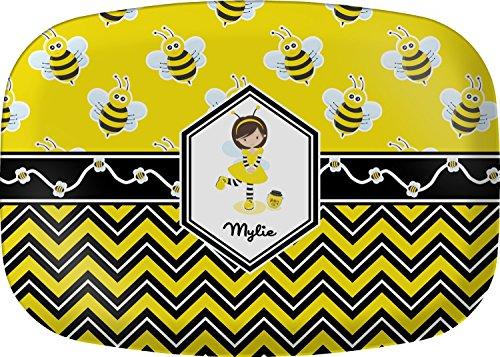 Buzzing Bee Melamine Platter (Personalized Melamine Platter)