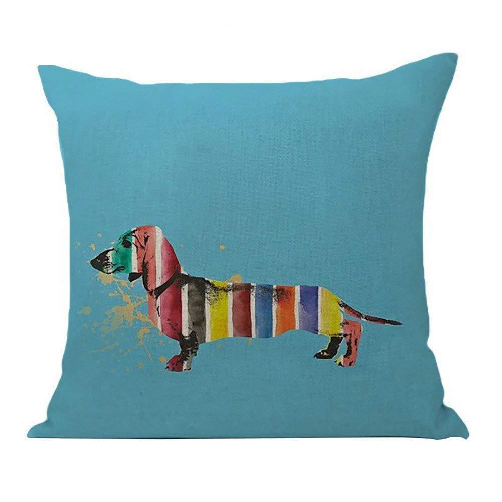 Dragonaur, grazioso copricuscino, stampa di bassotto, per decorazione di auto, casa, divano, Lino, 7#, medium MBSOCT22A946
