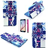 iPhone 5C Case, JCmax [2 Layer Protection] Domineering Tiger Pattern Hard PU Leather Purse Case [Build In Stand] Magnetic Flap With Shock Resistant Ultra Lightweight For iPhone 5C-Tiger