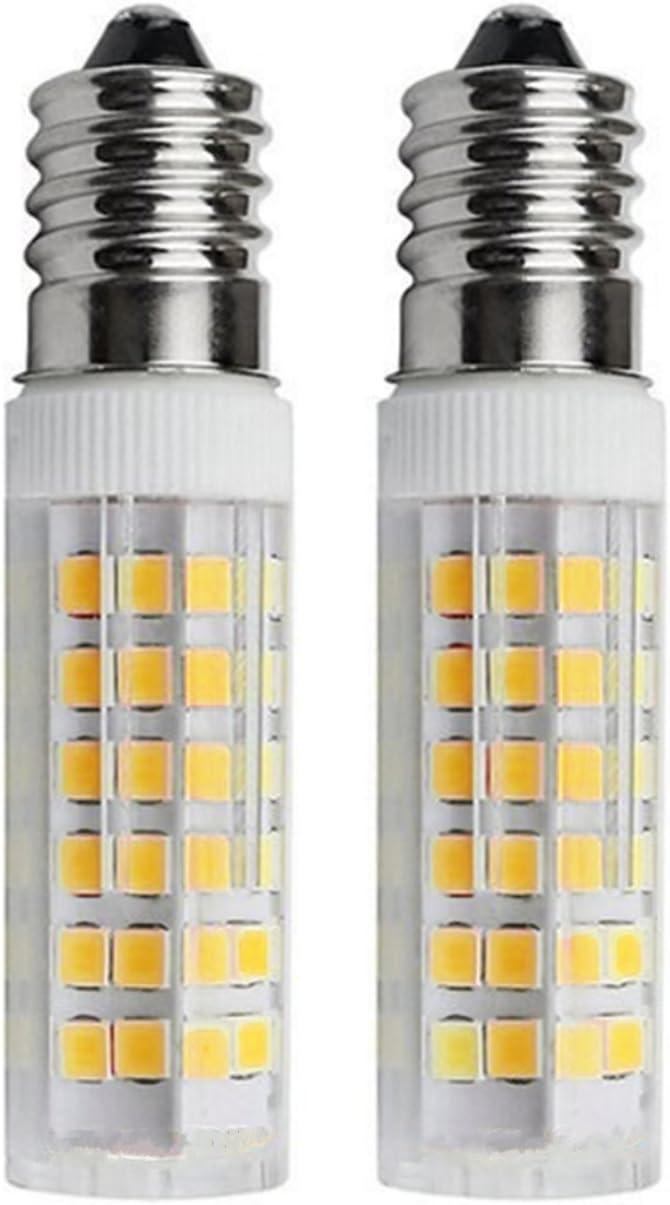 SFTlite [2 unidades] E14 SES Bombilla LED 5W-500lm-Blanco Cálido 3000K 360 ° ángulo-LED Energía Bombillas Rosca Edison Pequeña con Super Brillant: Amazon.es: Hogar