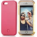 iPhone 6S Case, Elftear LED Light Up Luminous Selfie Cell Phone Case Illuminated Back Cover for Apple iPhone 6S iPhone 6