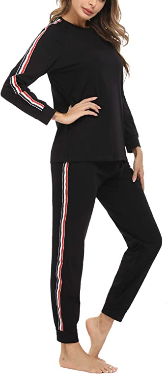Akalnny Pijama Mujer 100% Algodón con Mangas Largas Suave ...