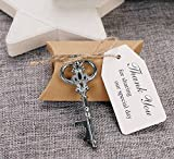 50pcs Wedding Favors Candy Box w/ Antique Skeleton Key Bottle Openers Escort Card Thank You Tag Pillow Box (Key Style #11) by DLWedding