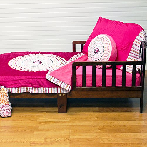 One Grace Place Sophia Lolita Toddler Set, White, Pink, Berry, Orange, Black - Berry Standard Sham