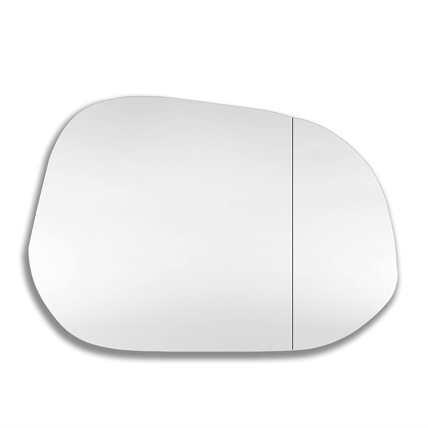 ToGra. Right side wing mirror glass. Real glass,door stick on mirror replacement Driver side quick fix silver #ToGr-95/10-R_wa