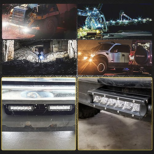 30W 7In Scheinwerfer Leiste Bar Fernlicht 12V-24V Reflektor Lampen R/ückfahrscheinwerfer Led Zus/ätzlichen Strahler Flutlicht Vorderseite Sto/ßf/änger Dachtr/äger Arbeitsscheinwerfer PKW Traktor Off Road Sichern Sie Lichter